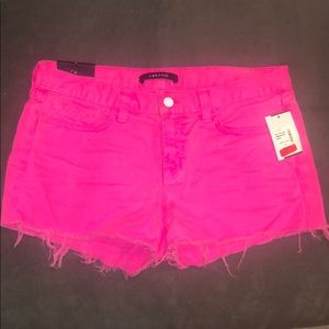 J Brand Hot Pink Jean Shorts